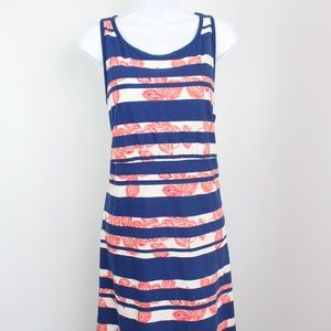 Tommy Bahama blue white striped sleeveless dress